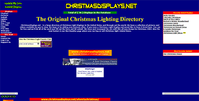 A screenshot of the original version of this site, I used the internet archive to look back and find it.