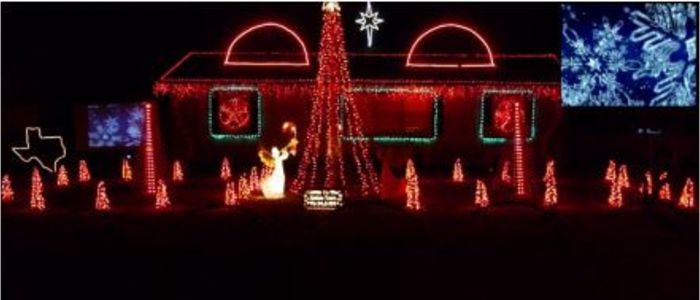 A picture of Hughes Holidays where you can find some amazing Christmas Lights.